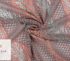 Lace – Grey and Salmon Waves
