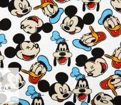 Dzianina Dresówka Pętelka - Micky, Donald i Goofy