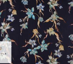 Woven Viscose Fabric – Floral Ornament