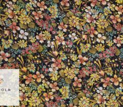 Woven Viscose Jacquard Fabric - Summer Flowers