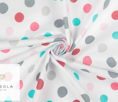 Cotton Woven Fabric – Colourful Dots