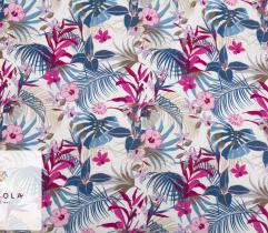 Tkanina Wiskoza – Różowe Tropiki