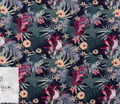 Woven Visose Fabric – Green Tropics