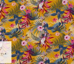 Tkanina Wiskoza – Żółte Tropiki