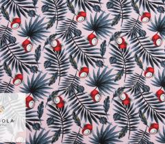 Tkanina Wiskoza – Różowe Malibu