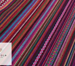 Żakard Dekoracyjny Meksykański - Czerwony