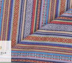Żakard Dekoracyjny Meksykański - Niebieski