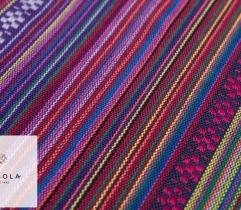 Żakard Dekoracyjny Meksykański - Fioletowy