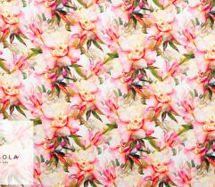 Tkanina Barbie - Akwarelowe Kwiaty