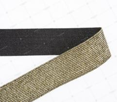 Knitted Elastic Tape - Metallic Gold 30 mm