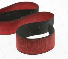 Guma Dziana - Metaliczna Czerwona 50 mm