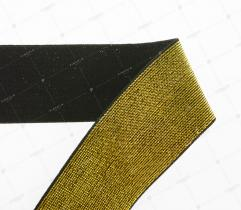 Knitted Elastic Tape - Metallic Gold 50 mm