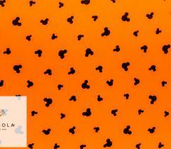 Dzianina Jersey Single - Pomarańczowy Mickey