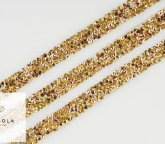 Thermo Tape with Crystals - Gold