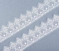 Guipure 5 cm - White Hearts