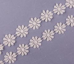 Guipure 2 cm - Cream Flowers