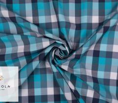 Tkanina Premium - Niebieska Krata