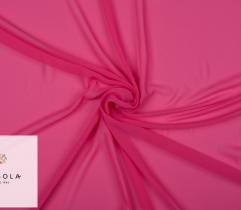Tkanina Szyfon - Neonowy Róż