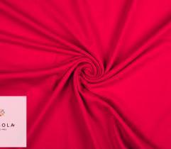 Dzianina Jersey Single Rękaw – Czerwony