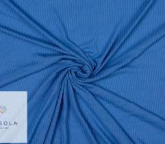 Rib Knit Fabric Viscose 90 cm  - Blue