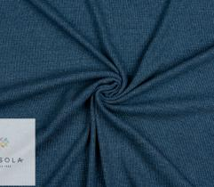 Rib Knit Fabric Cotton 90 cm - Blue Melange