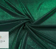 Dzianina Lurex z Metalową Nitką - Zielona