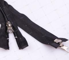 Open Ended Zipper 2-slide 75 cm  - Black