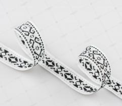 Ribbon Ethnic Motifs - Black and White