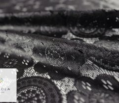 Lace black, laminate - openwork panel