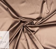 Woven Cotton Satin Fabric - Cappucino