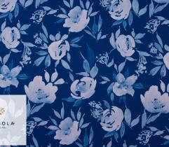 Tkanina Barbie Classic Blue - Kwiaty