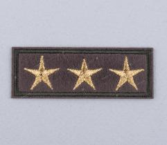 Iron-on Patch - 3 Khaki Stars