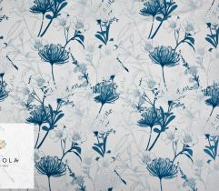 Woven Fabric Barbie Classic Blue - Floral