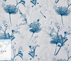 Tkanina Silki Classic Blue - Floral