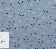 Tkanina Silki Classic Blue - Żurawie