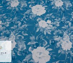 Tkanina Silki Classic Blue - Bratki