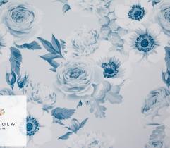 Tkanina Silki Classic Blue - Ogród