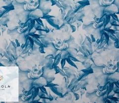 Woven Fabric Silki Classic Blue - Watercolour
