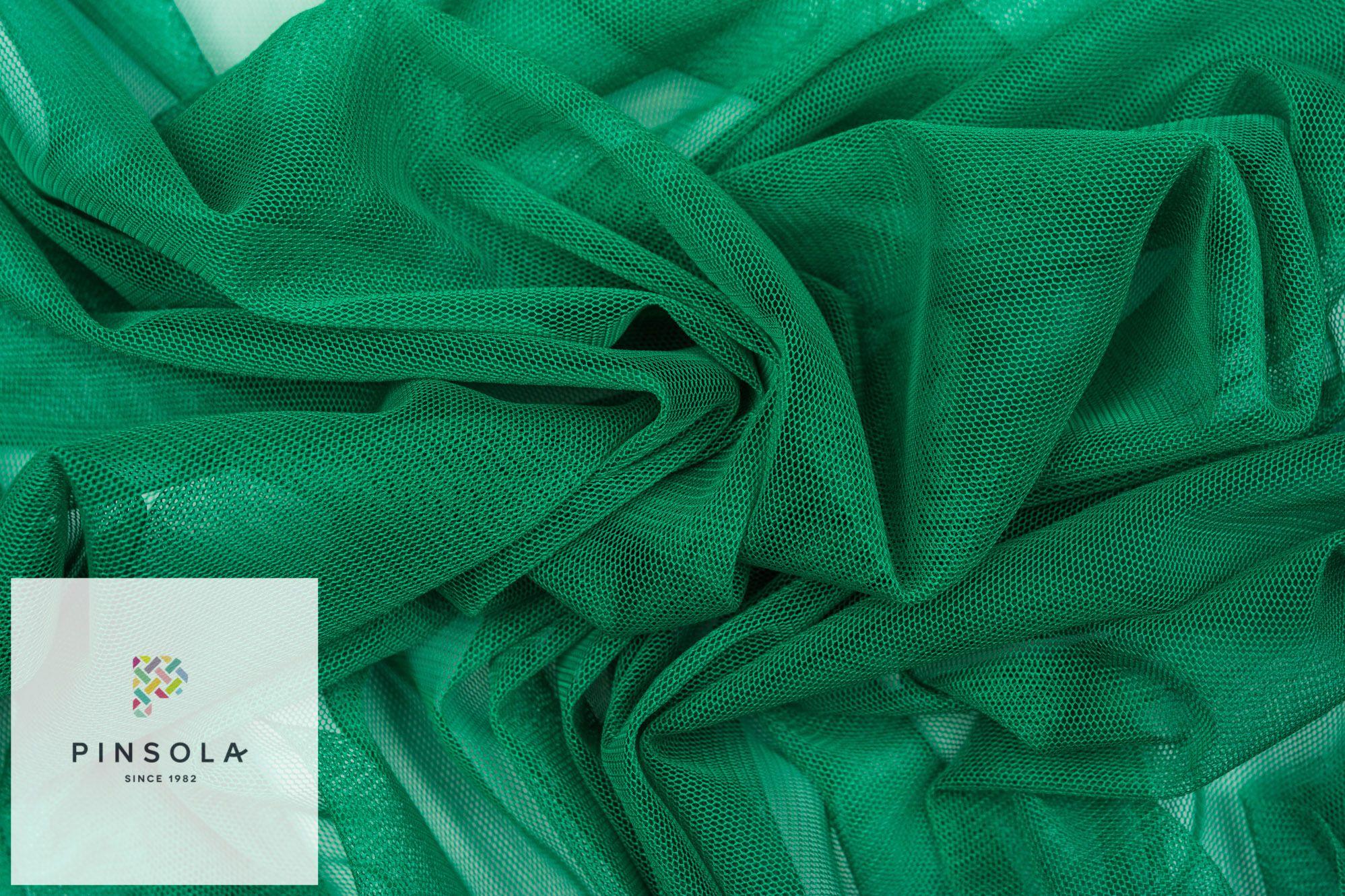 Dzianina Tiul Zielony Pinsola