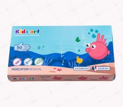 Rękawice nitrylowe dla dzieci - opakowanie 50 sztuk