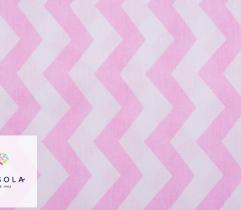 Woven Cotton Fabric  - Zyg-zag Pink
