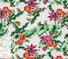 Woven Viscose Fabric - White Jungle