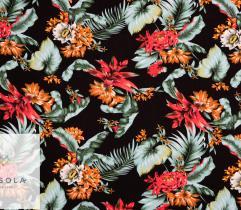 Woven Viscose Fabric - Black Jungle