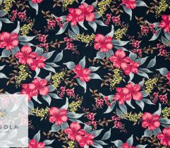 Woven Viscose Fabric  - Rose Mallow