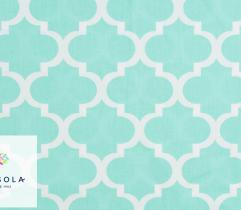 Woven Cotton Fabric - Mint Morocco