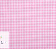 Woven Cotton Fabric - Pink Check
