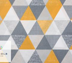 Woven Cotton Fabric - Yellow Triangles