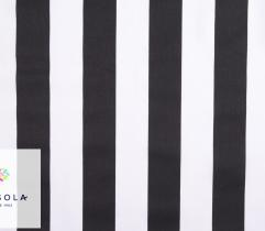 Woven Cotton Fabric - Black and White Strips