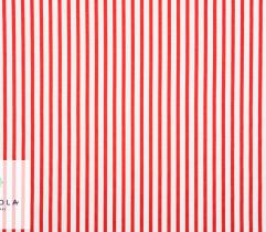 Woven Cotton Fabric - Red Strips