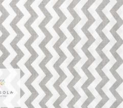 Woven Cotton Fabric - Zig-zag Grey
